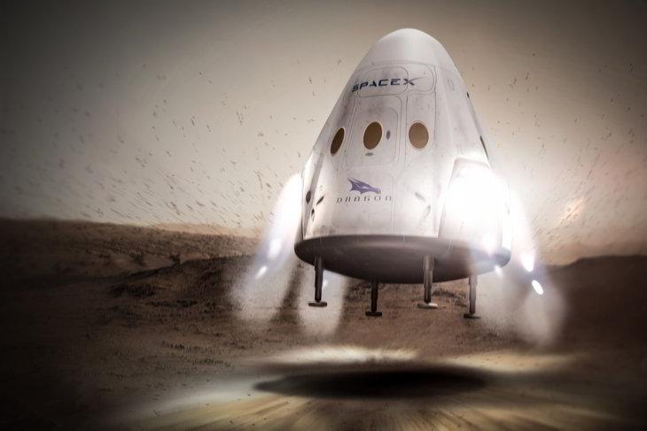 Space X planea enviar una misión a Marte en 2018